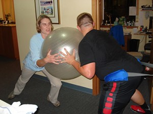 playing ball coupeville psysical therapy